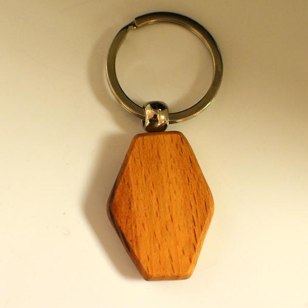 House wood keychain engraved gift with name