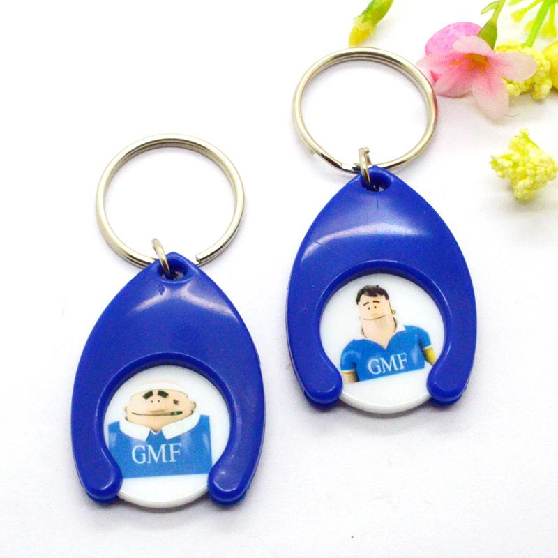 Wholesale Custom Logo Cheap Plastic Pvc Coin Holder Keychain Clip