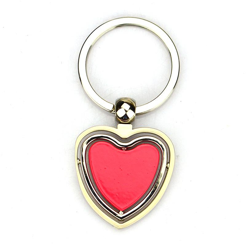 Custom Bulk Cheap Enamel Logo Key To My Heart Keychain
