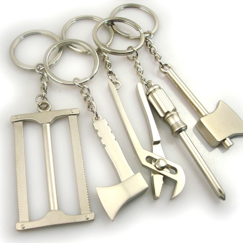 metal plated keychain tools for men