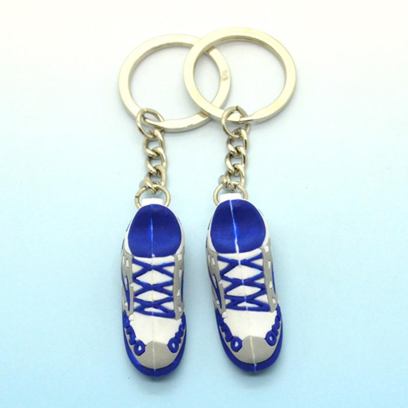 Free Sample Fashion 3D Stylish Sneaker Shoe Keychains