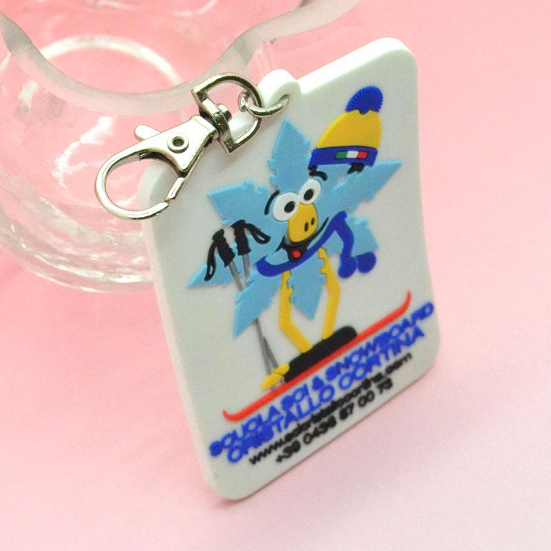 Custom Design Your Own Company Pvc Marketing Keychains