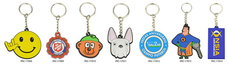 Wholesale Custom Keychain Ring Soft Pvc