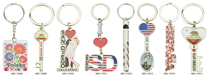 Pu Key Holder Custom Metal And Leather Keychain