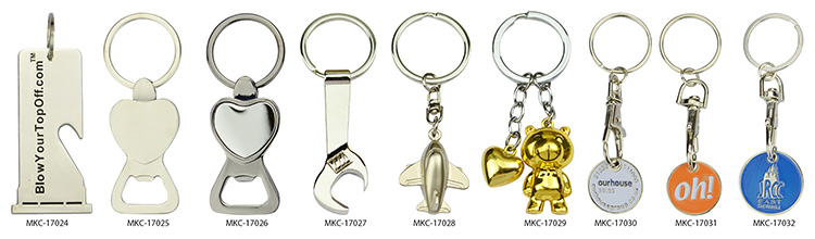 Cheap Metal Custom Logo Keyrings