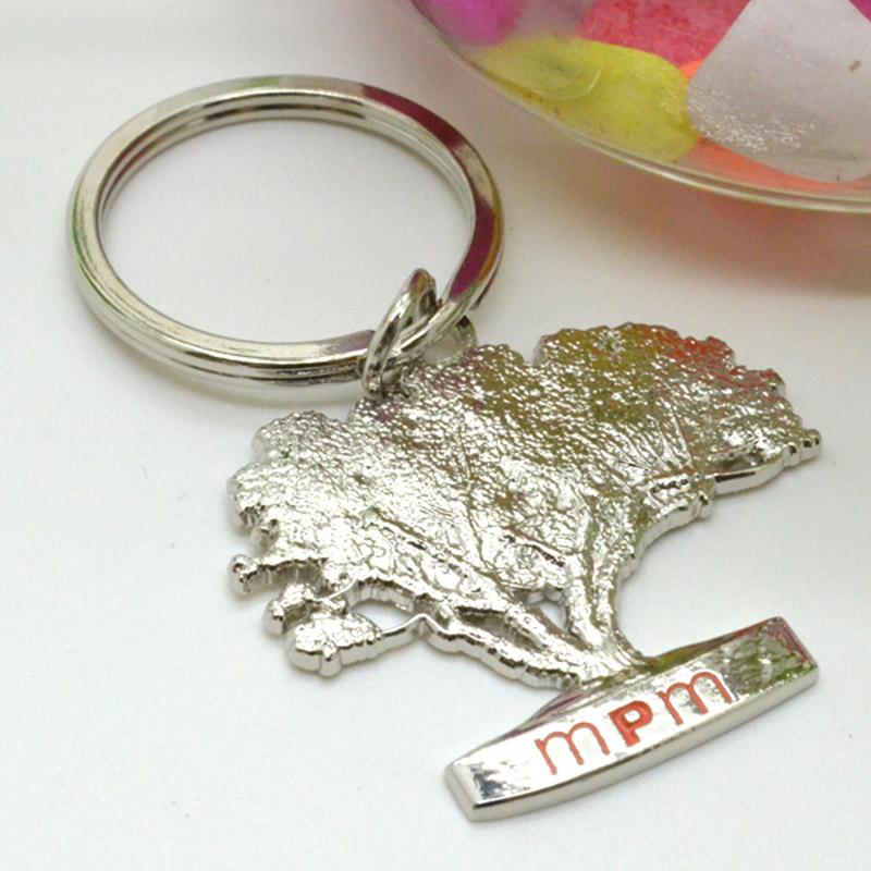 No Minimum Customized Design Your Own Silver Keyrings
