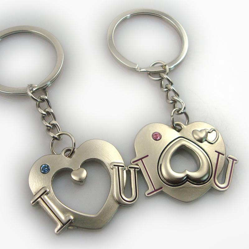 Buy Bulk Plain Novelty Initial Cute Couple Keyrings Maker