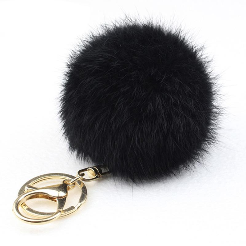 Wholesale Custom Lovely Rabbit Fur Ball Keychain