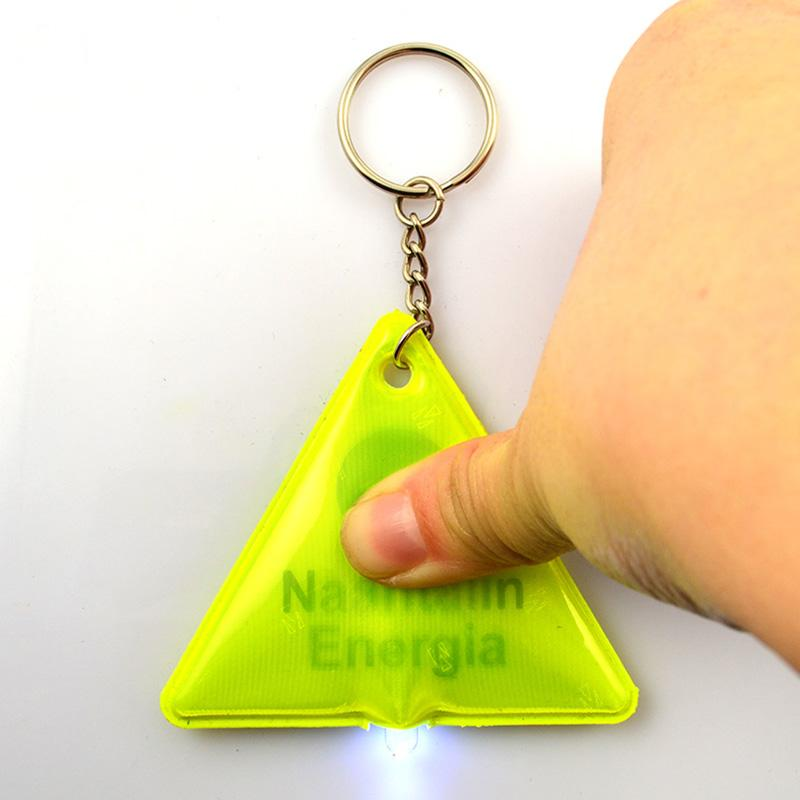 Promotion Cheap Custom Plastic Pvc Led Reflective Keychain