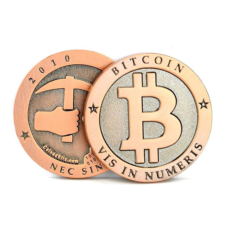 Wholesale Promotion Custom Cheap Metal Bitcoin Coins