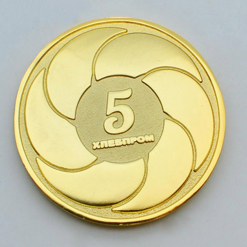 Hot Sale Cheap Art And Crafts Metal Plated Gold Coins