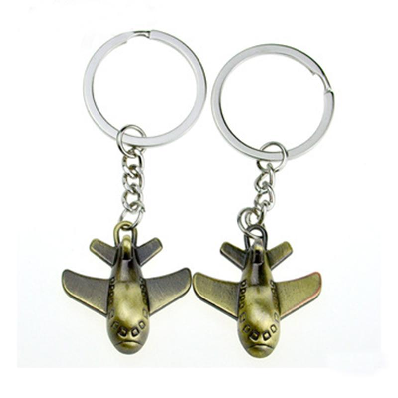 China Keychain Factory Best Selling 3D Airplane Keychain