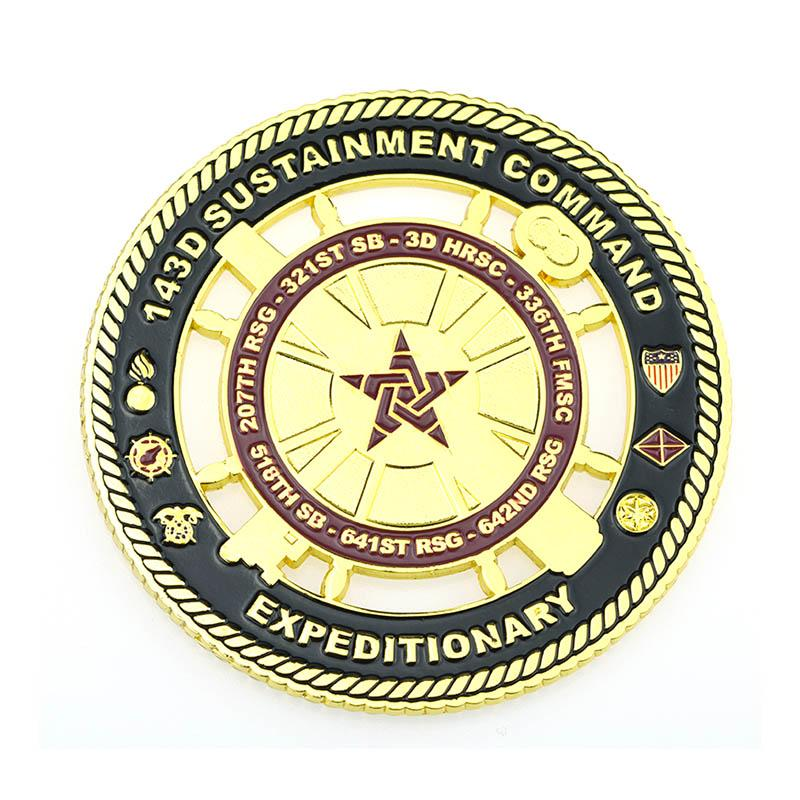 No Minimum Custom Design Your Own Gold Plated Tungsten Coin