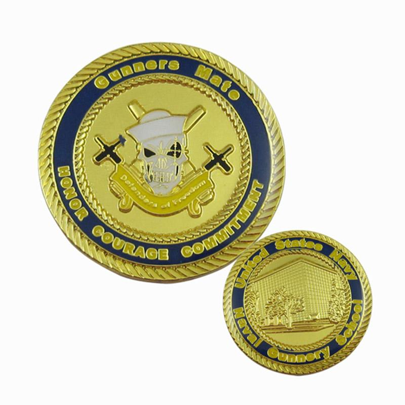 Coin Supplier Cheap Custom Gold Double Sided Angel Coin