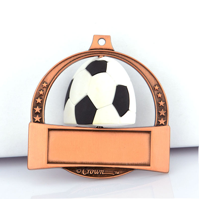 Hot Saling No Minimum Artigifts China Factory Football Medals