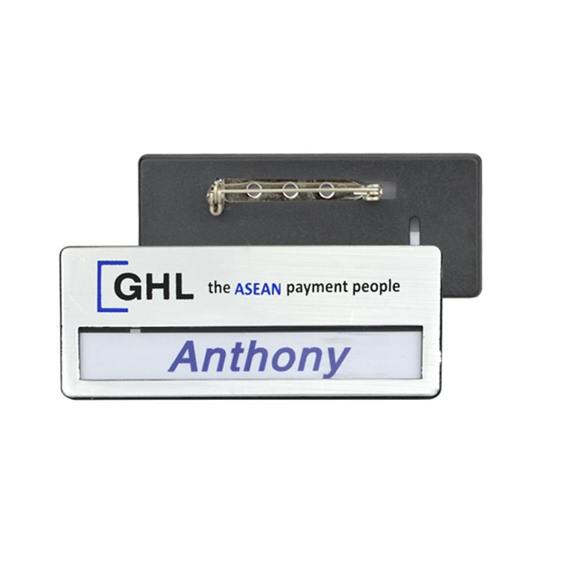 China Badge Maker Factory Price Bulk Black Magnetic Name Badge