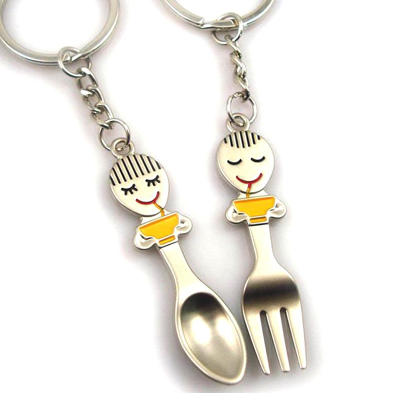 Customized Bulk Cheap Personalized Couple Keychains