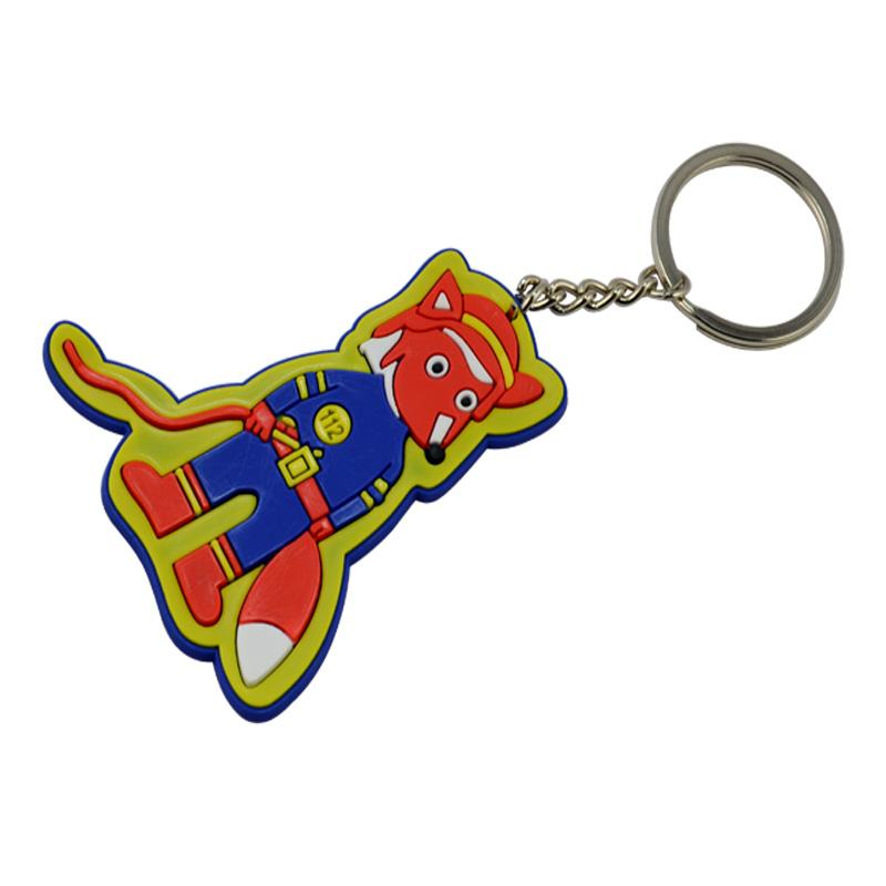 Keyring Factory Wholesale Custom Pvc Animal Mini Plushie Keychain