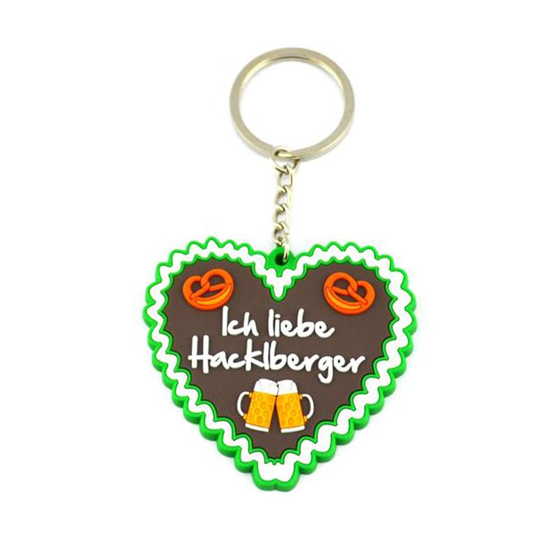 Wholesale Custom Injection Rubber Plastic Promotional Keyrings