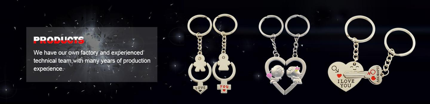 Promotional metal customized couple keyrings - Couple Keychain