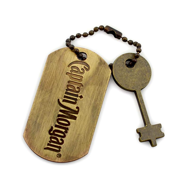 Keyring Maker Custom Bulk Metal Plated Brass Dog Tag Keychain