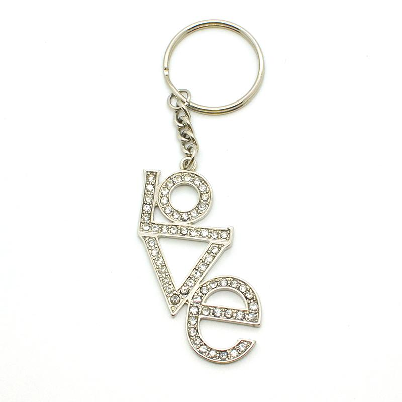 Custom Bulk Metal Jewelry Letter Key Chains Wholesale