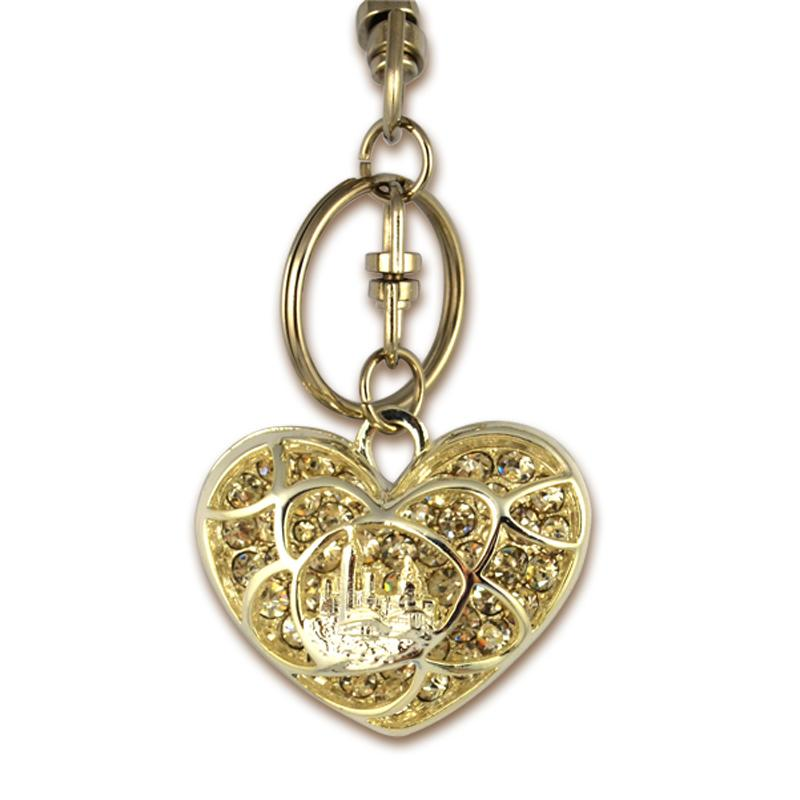 Custom Design Your Own Keyring Heart Shape Bling Key Chain