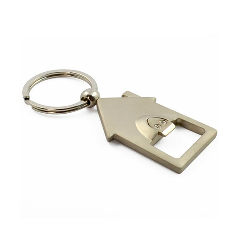 Wholesale Keychain Custom Metal House Shaped Keychains