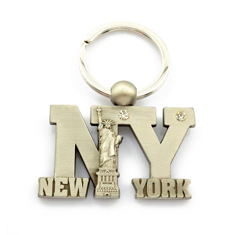 Custom Bulk Statue Of Liberty Metal New York Keychain Wholesale