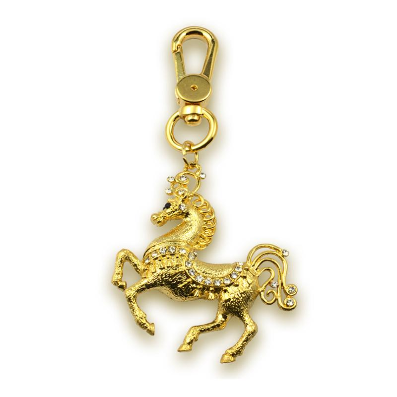 Customized Bone Shaped Metal Plated Gold Keychain Wholesale