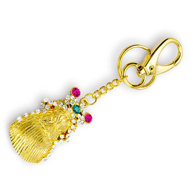Customized Metal Plated Gold Pig Shaped Jewelry Keychain Wholesale