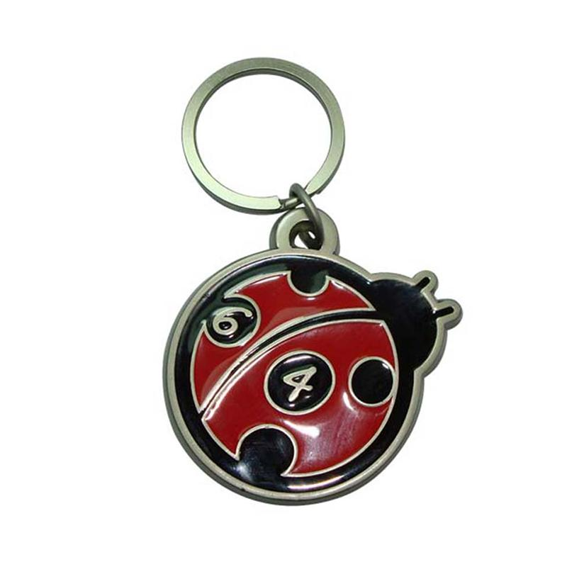 Design You Own Keyring Custom 3D Metal Insect Keychain Wholesale