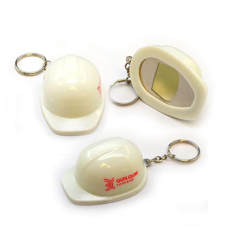 Wholesale Keychains Factory Custom Hard Hat Keychain With Opener