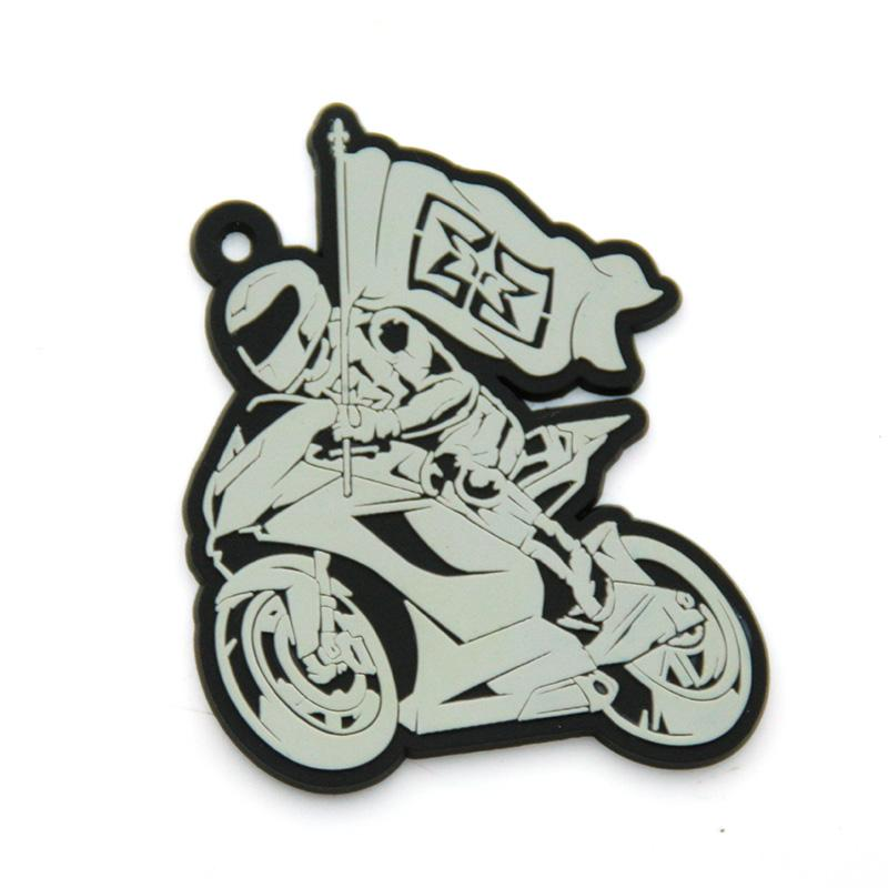 No Minimum Wholesale Custom Rubber Soft Pvc Motorcycle Key Chain
