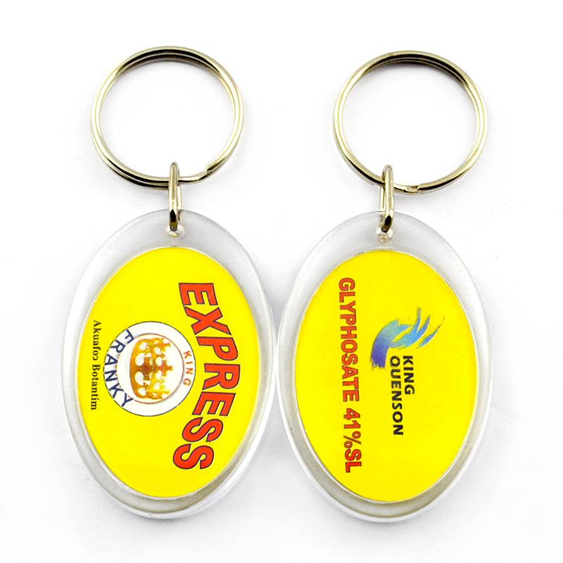 Wholesale Cheap Custom Printed Blank Keychain Acrylic Key