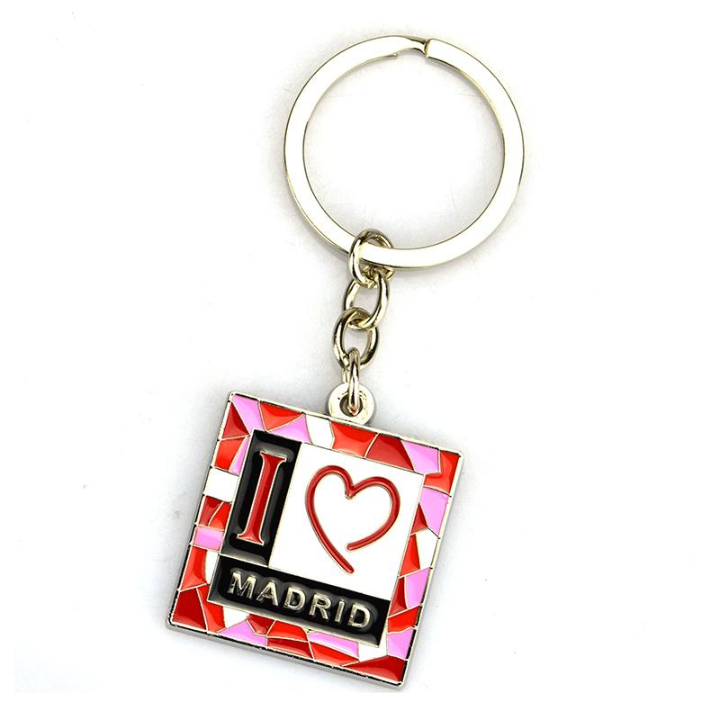 Factory No Minimum Custom Metal Souvenir Florida Keychains