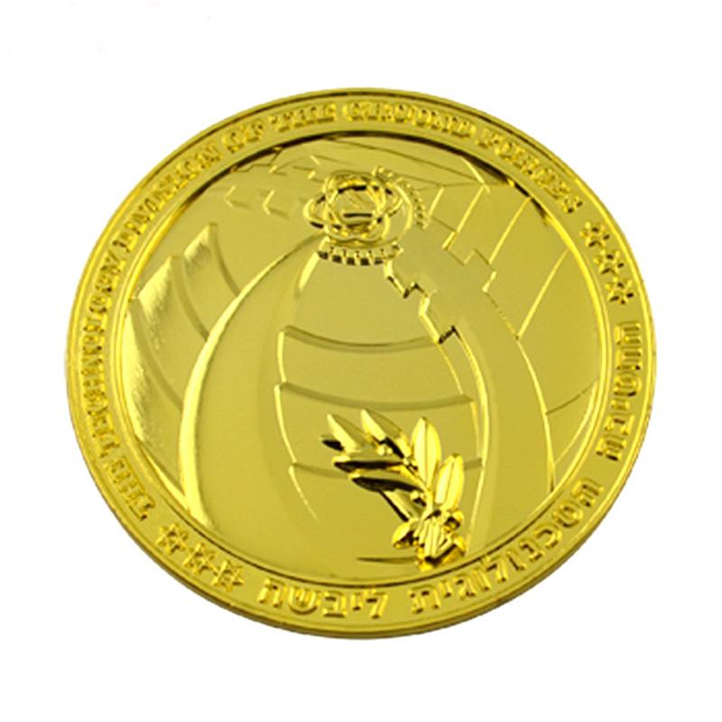 Free Sample Factory Custom Logo Metal Plated Gold Coin