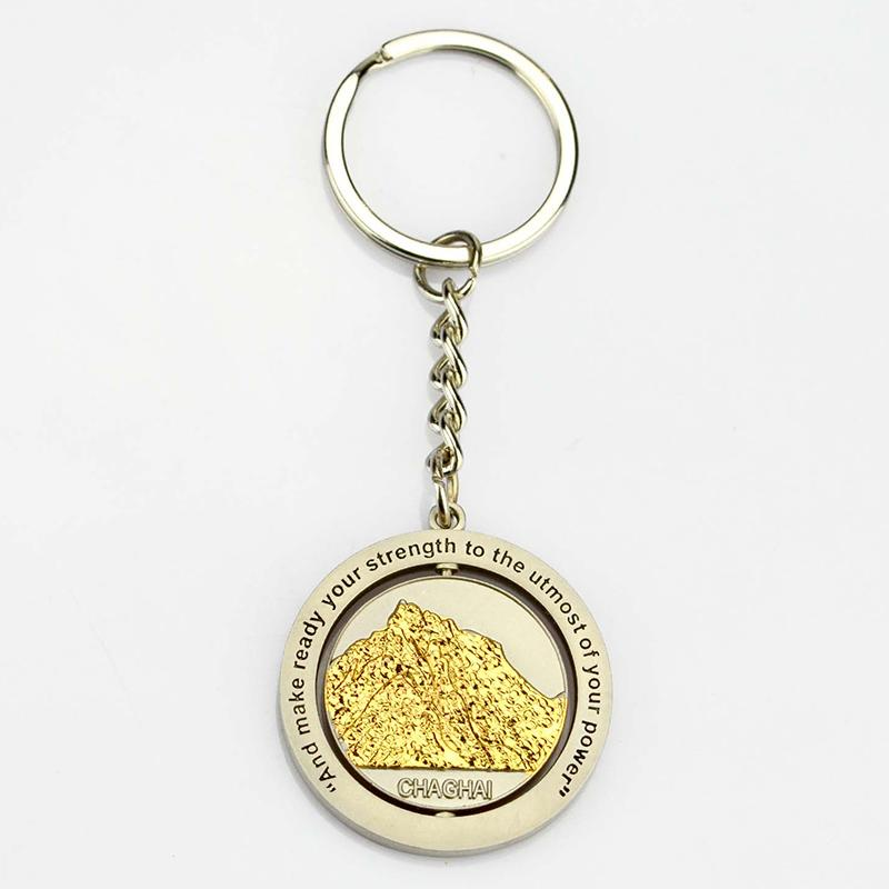 Keychains Factory Bulk Metal Spinner Cheap Keyring Wholesale