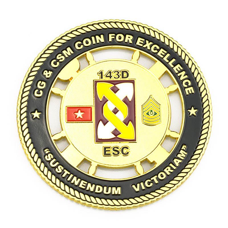Metal Crafts Factory Custom Enamel Euro Coin No Minimum Order