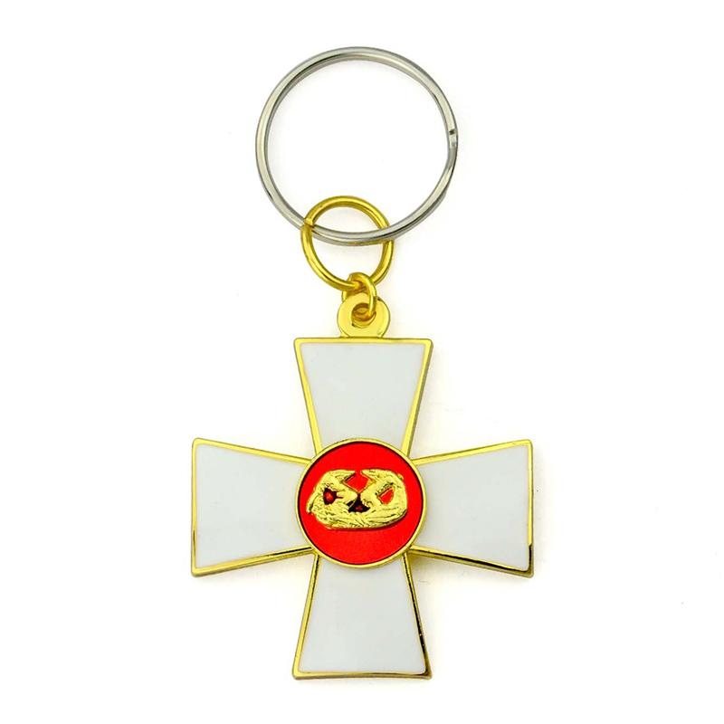 Keyring Maker Custom Design Your Own Logo Cross Metal Keyholder