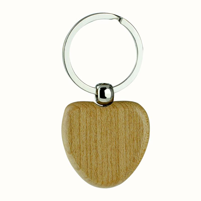 Custom Wood Keychain Factory Print Blank Engraved Keyholder Wood