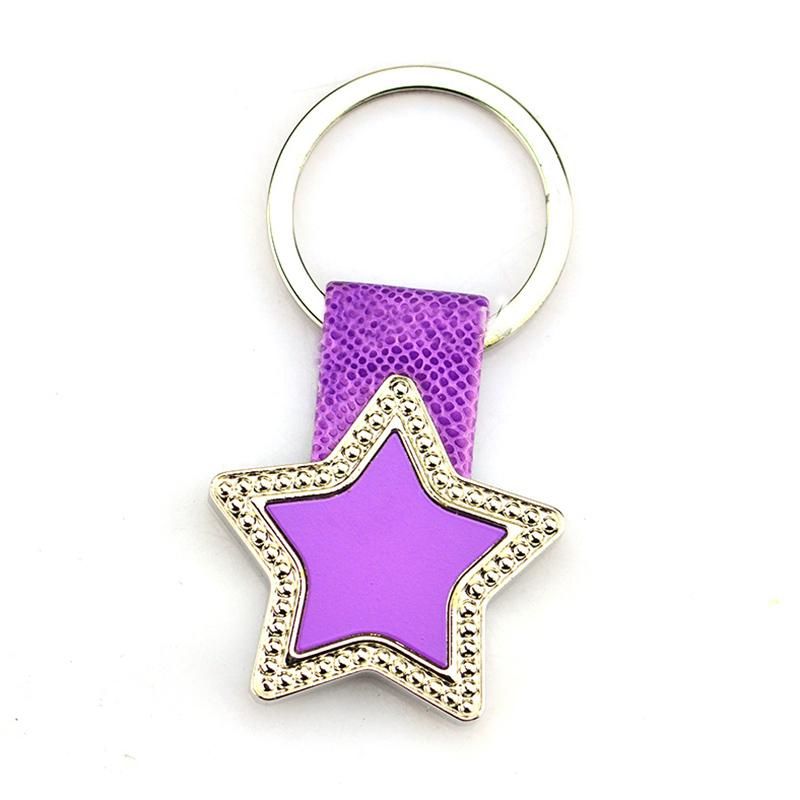 Keychain Factory Supplier Bulk Cheap Leather Key Ring Custom