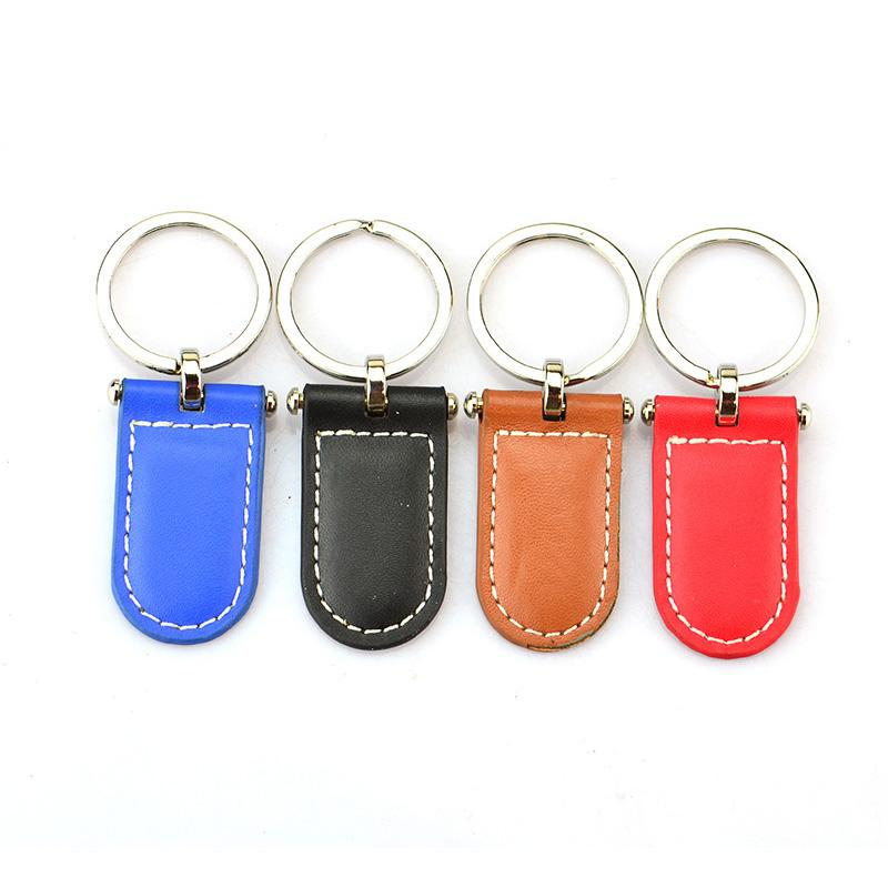 Key Ring Maker Custom Blank Pu Keychain Custom Logo Leather