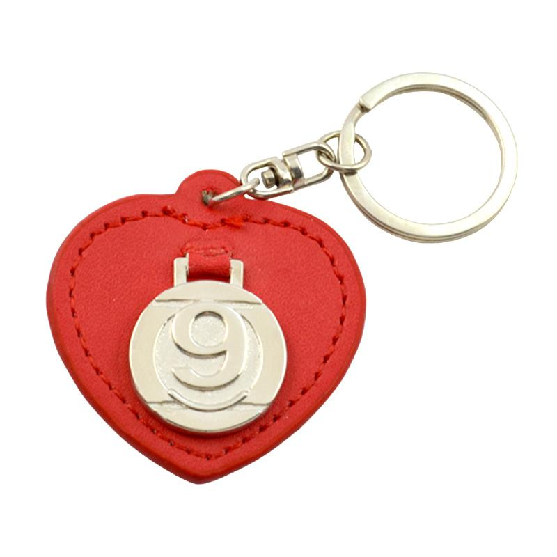 Custom Design Your Own Blank Car Logo Keychain Heart Leather