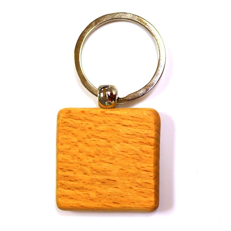 Wholesale Keychains Blank Wooden Key Chain Wood Key Ring Custom
