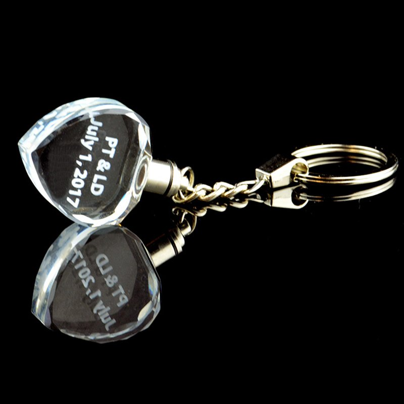 Custom Glass Photo Crystal Key chain Crystal Car Logo Keychain