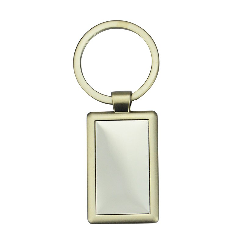 Custom Engraved Zinc Alloy Sublimation Blank Laser Keychain