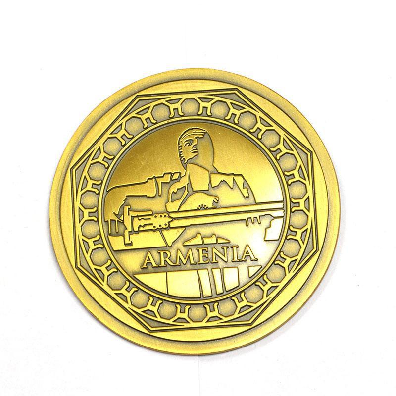 Manufacturer Custom Cheap Metal Plated Tungsten Gold Coin