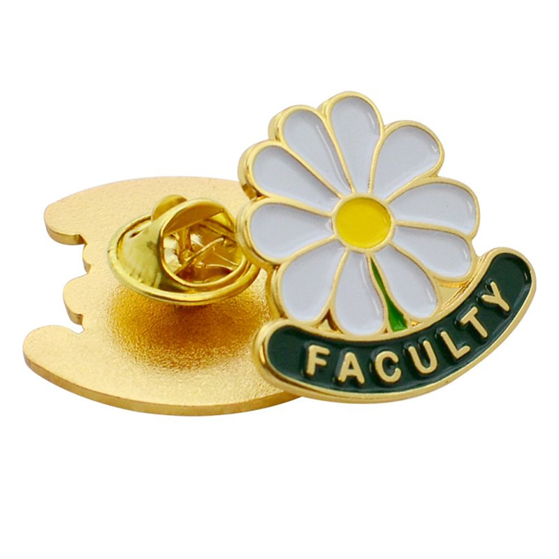 Odm No Minimum Custom Enamel Pin Metal Men'S Flower Lapel Pin