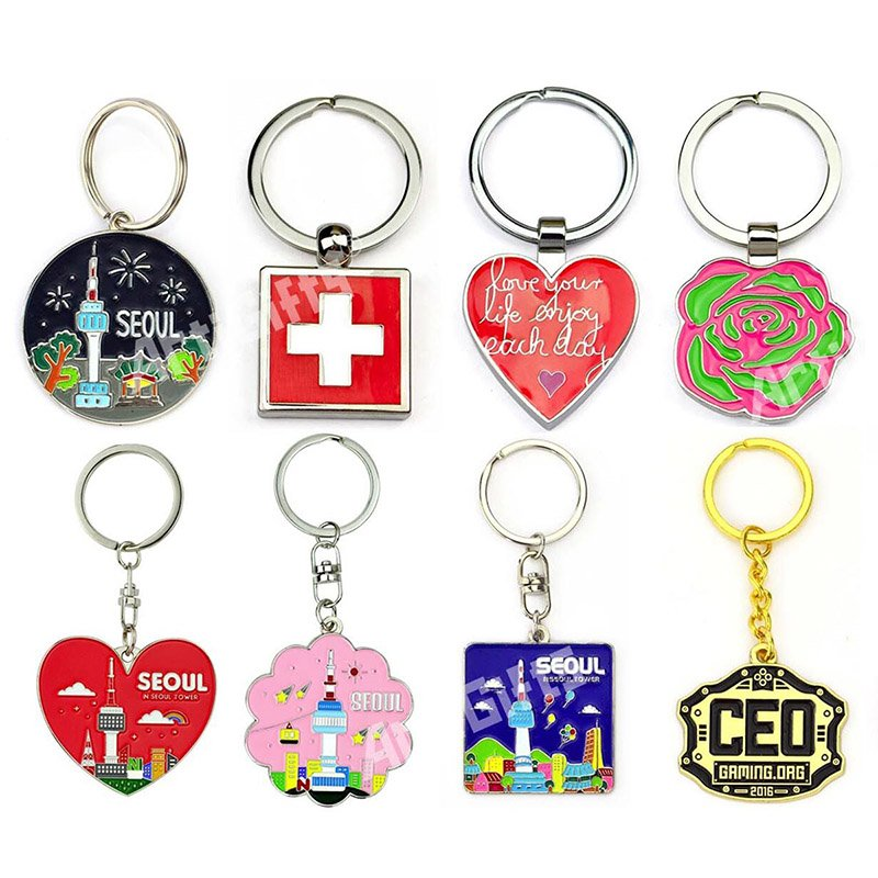 Wholesale Metal Enamel Key Chain Custom Keychain Promotional